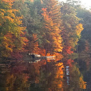quiet fall lake landscape